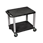 2-Shelf Rolling Carts | Office Supplies | Public Kitchen Supply