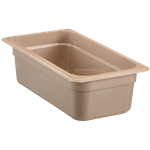 "Cambro - 1/3 Size x 4"" High Heat Food Pan 