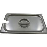 Browne - 1/3 Size Stainless Notched Food Pan Cover with Handle | Public Kitchen Supply