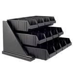 Cambro - 12 Bin Condiment Organizer Rack (Blk) | Public Kitchen Supply