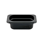 "Cambro - 1/9 Size x 2 1/2"" Deep Food Pan (BLK) 