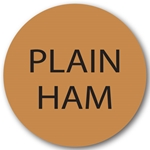 Fundamental Designs - Plain Ham Circle Label (1000/roll) | Public Kitchen Supply