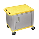 "H Wilson - 24.5"" Yellow Accent Nickel Cabinet Tuffy Presentation Station 