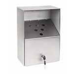 Crown Verity - Stainless Wall-Mount Butt-Out Ashtray (Large) | Public Kitchen Supply