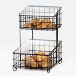 Cal-Mil - Black 2-Tier Wire Frame with Inserts | Public Kitchen Supply