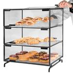 Cal-Mil - Black 3-Level Pastry Case | Public Kitchen Supply