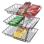 Cal-Mil - 3-Tier Rectangle Wire Merchandiser | Public Kitchen Supply