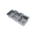 Advance Tabco - 3 Compartment Drop-in Sink | Public Kitchen Supply