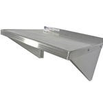 PKS - Wall-mounted Aluminum Microwave Shelf | Public Kitchen Supply