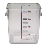 Rubbermaid - 8 Qt Square Food Container (Clr) | Public Kitchen Supply