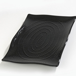 Carlisle - 15.5 x 11 Black Textured Platter  | Public Kitchen Supply