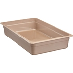 "Cambro - Full 1/1 Size x 4"" Deep Food Pan Amber Hot 