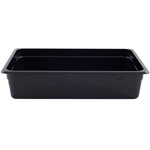 "Cambro - Full 1/1 Size x 6"" Deep High-Heat Food Pan Black Hot 