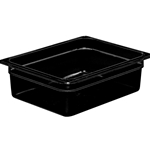 "Cambro - Half 1/2 Size x 4"" Deep High Heat Pan Black Hot 