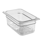 "Cambro - Half 1/2 Size x 5"" Deep Pan Colander Clear Cold 