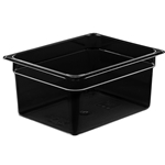 "Cambro - Half 1/2 Size x 6"" Deep High Heat Pan Black Hot 