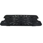 Cambro - Third 1/3 Size Drain Tray Black Cold | Public Kitchen Supply