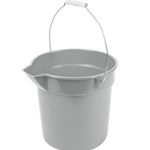 Continental Commercial - 10 Qt Gray Bucket W/Handle & Spout | Public Kitchen Supply