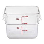 Cambro - 12 Qt Square Storage Container (Clear) | Public Kitchen Supply