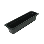 "Cambro - Half 1/2 Size Long x 4"" Deep Food Pan Black Cold 