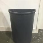 TRASH CONTAINER, 21 GAL HALF  MOON GREY