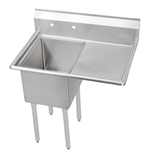 "Iron Guard-Sink 1 Comp 18 X 18 X 14 with 18"" RDB 304 Top Galv Legs  