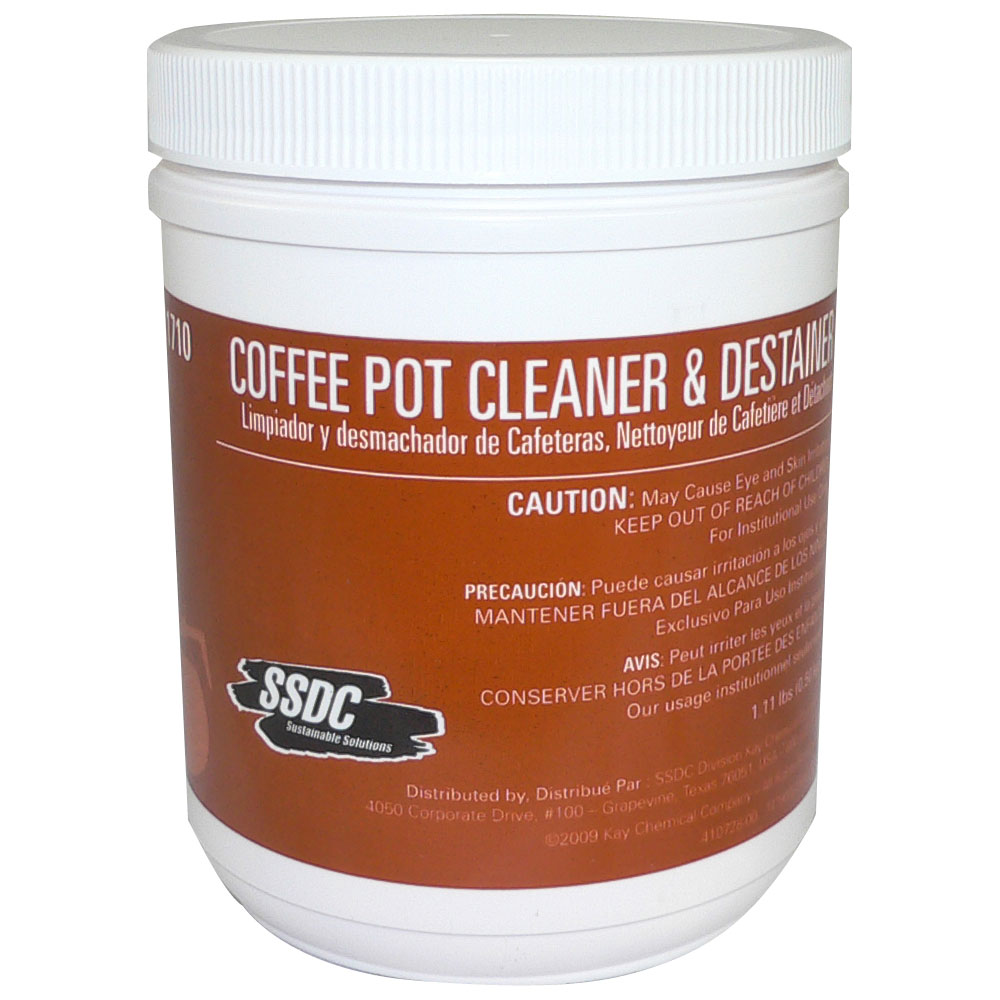 Coffee Maker Cleaner Recipe : SSDC - Coffee Pot Cleaner & Destainer Public Kitchen Supply