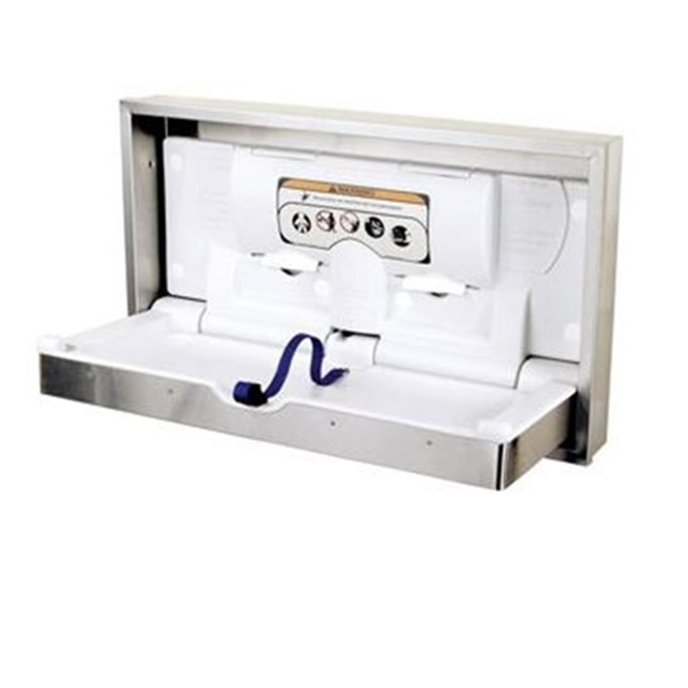 World Dryer - Stainless DryBaby Horizontal Changing Table
