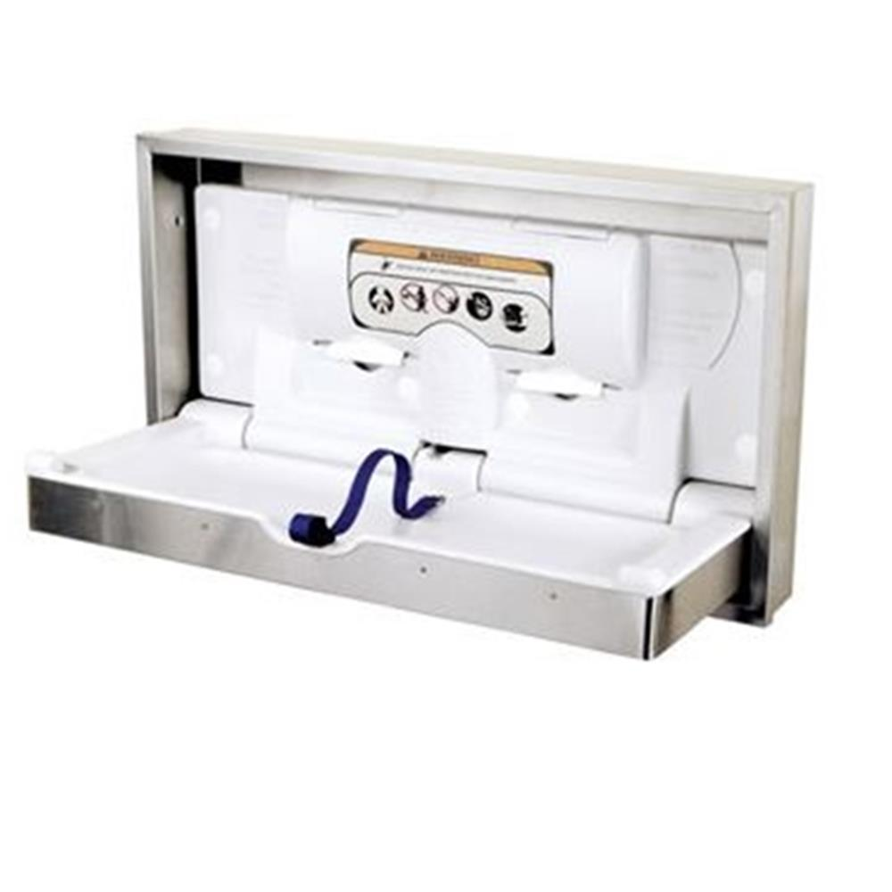 World Dryer - Recessed Stainless DryBaby Horizontal Changing Table