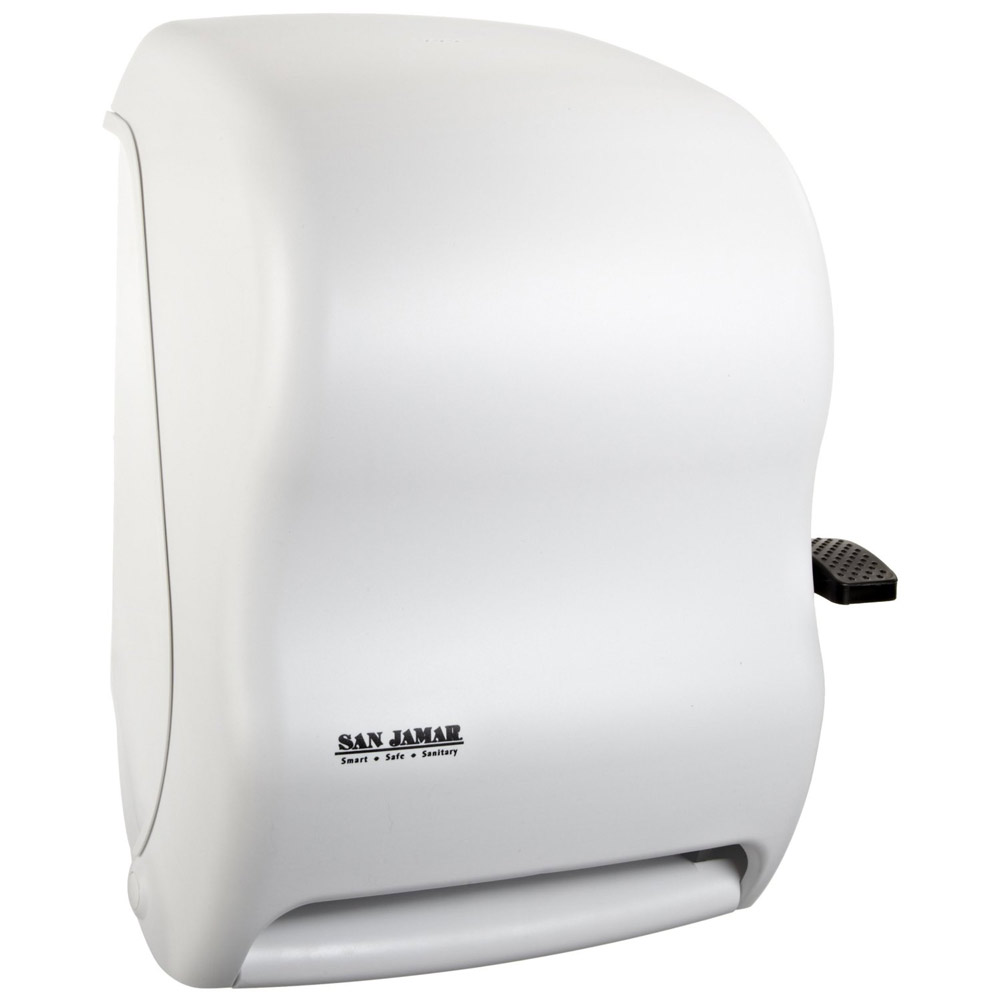san jamar classic paper towel dispenser white public kitchen supply. Black Bedroom Furniture Sets. Home Design Ideas
