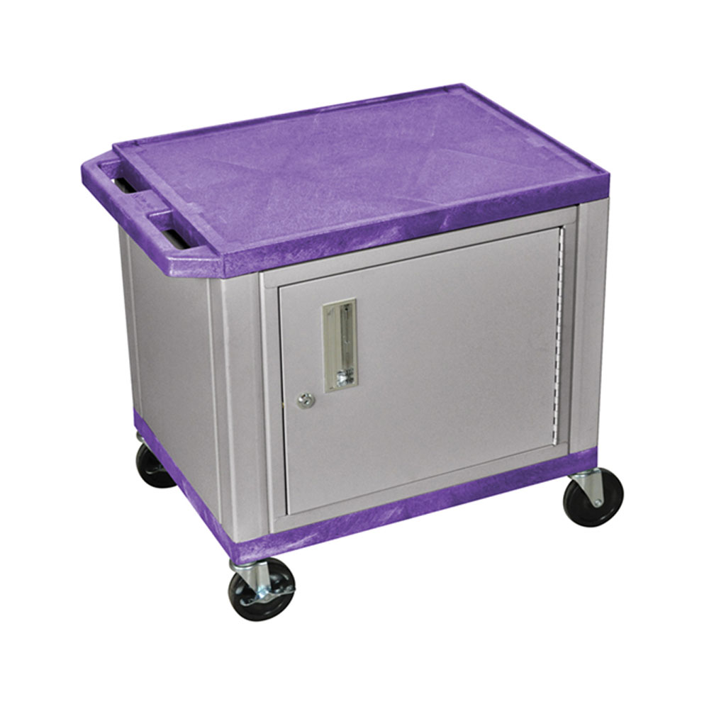 "H Wilson - 24.5"" Purple Accent Nickel Cabinet Tuffy Presentation Station"
