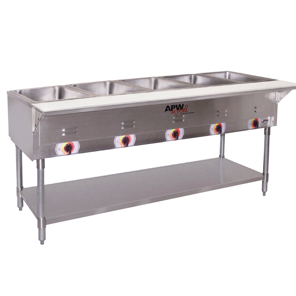 apw wyott 48 quot portable solid top tables w stainless