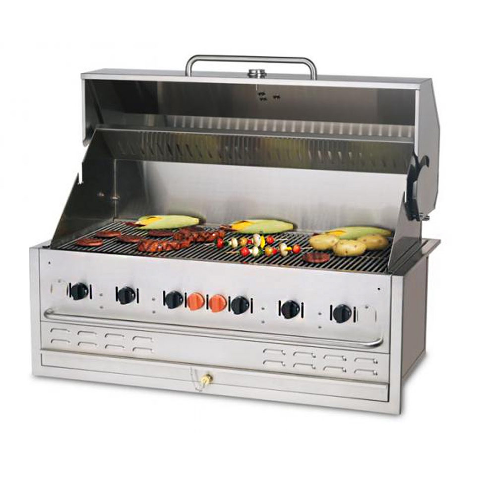 Outdoor Gas Griddle Grill ~ Crown verity quot outdoor propane charbroiler grill