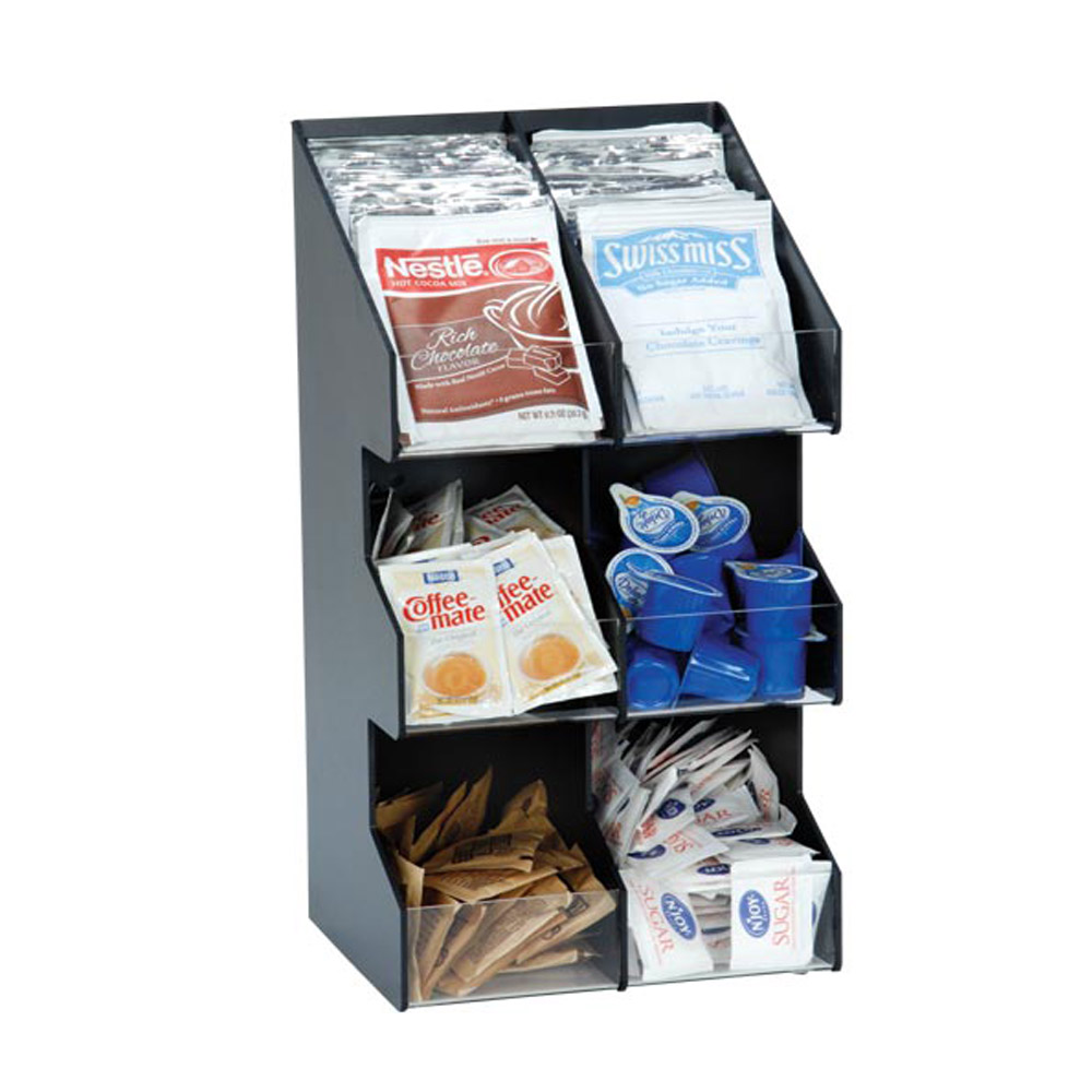 Dispense Rite Six Section Countertop Vertical Lid Condiment Organizer Public Kitchen Supply