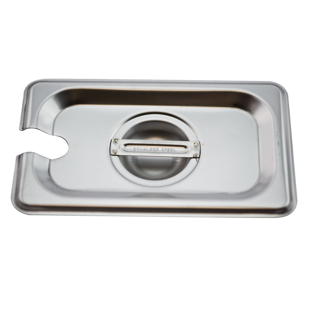 Browne - 1/9 Size Food Pan Cover W/Handle & Notch (SS)