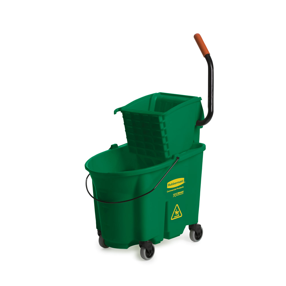 Rubbermaid - 35 Qt WaveBrake Mop Bucket w Side Press (Green)