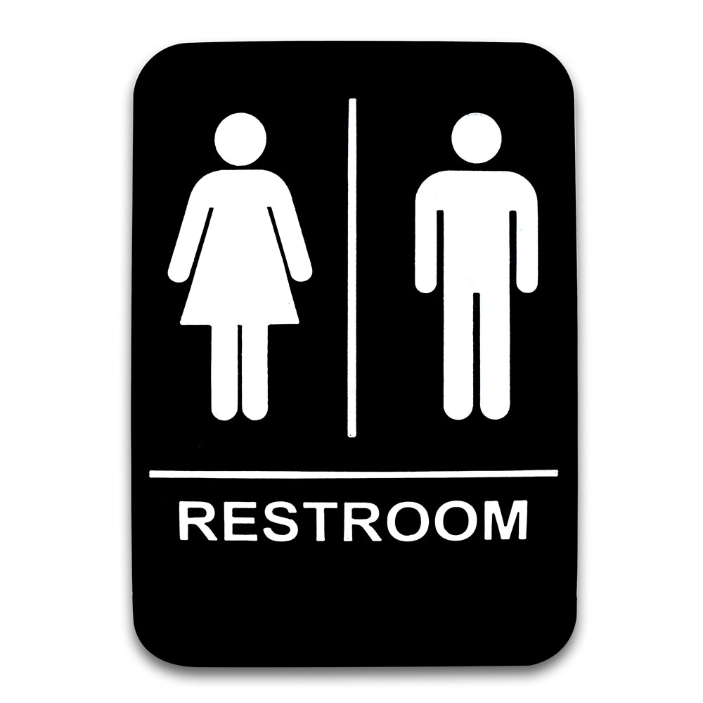 co rect products 6 x 9 men and women restroom sign