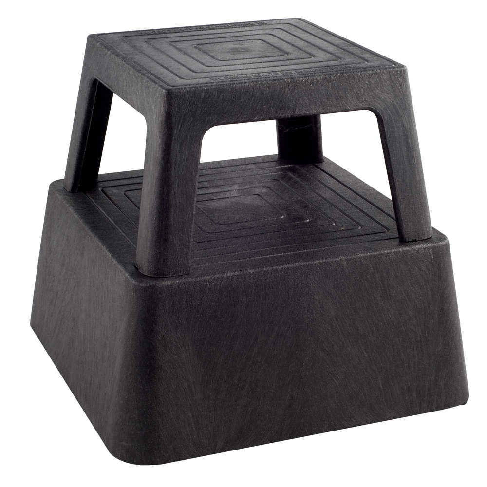 Continental Commercial Deluxe Step Stool W Wheels