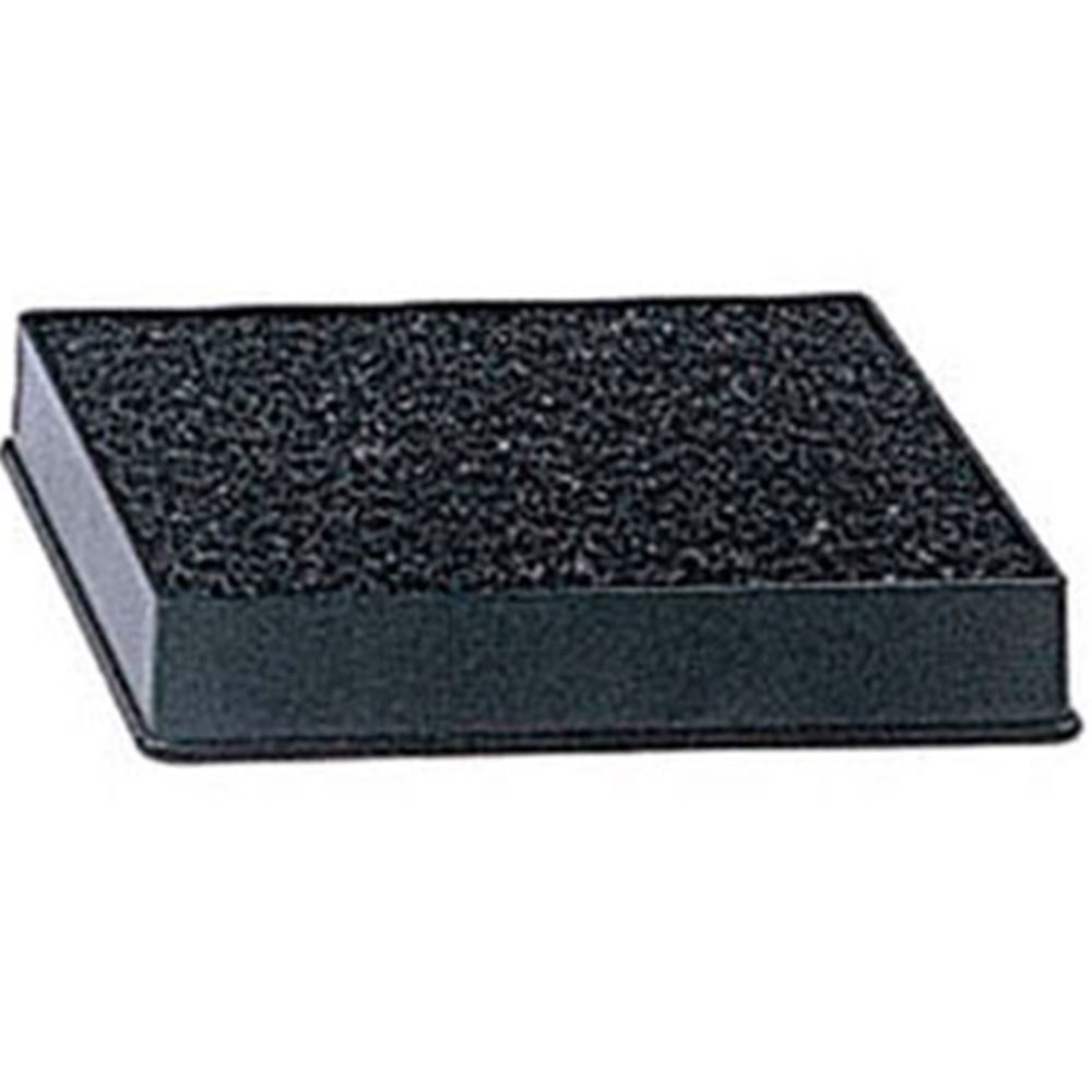 "Update International - 4 x 3"" Black Drip Tray with Sponge"