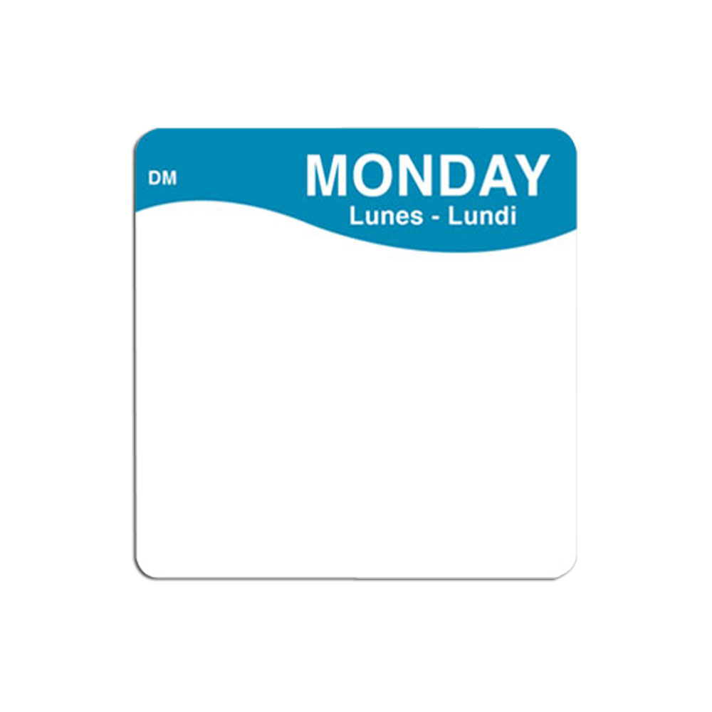 "DayMark - MoveMark 2x2"" Label (Mon) 