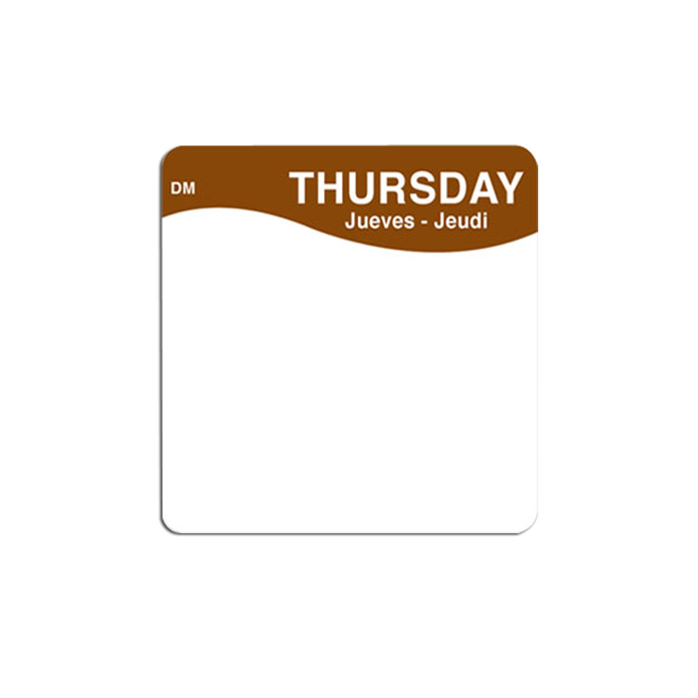 "Daymark - 2x2"" MoveMark Day of the Week Label (Thur) 