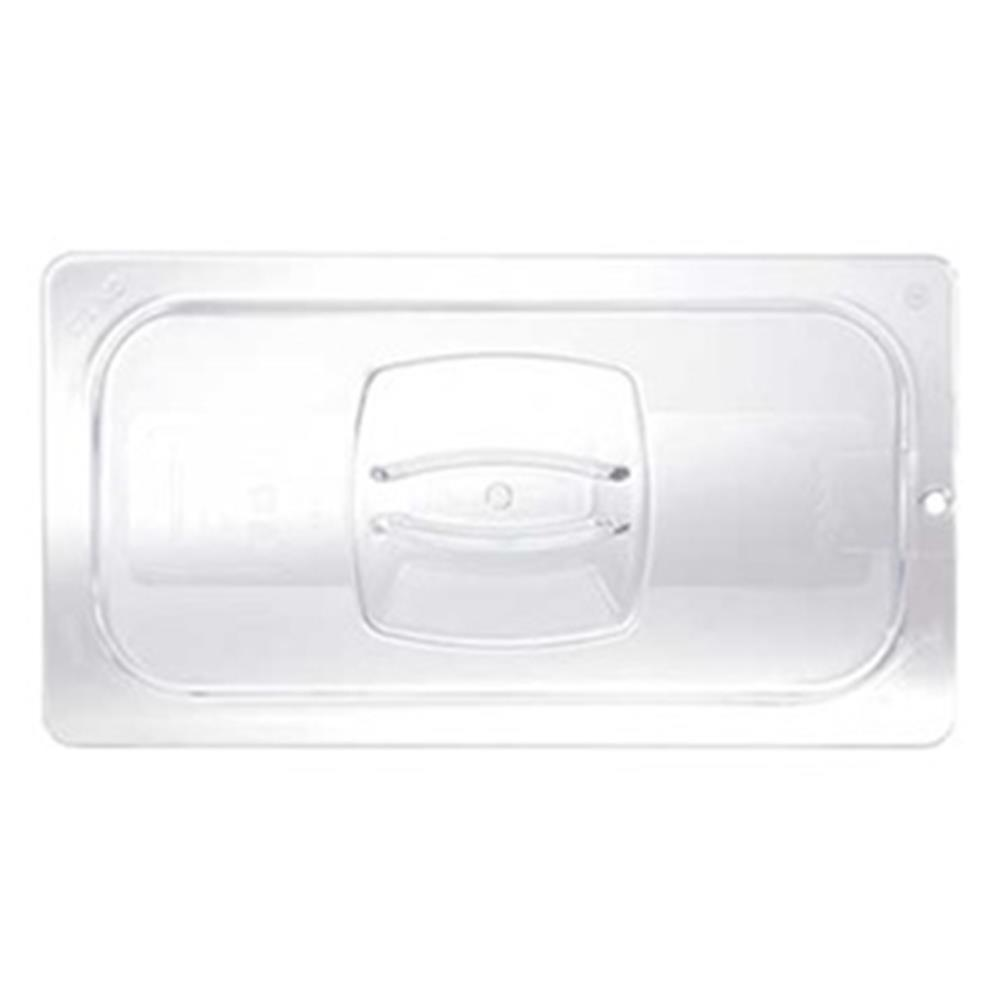Rubbermaid - 1/6 Sz Food Pan Cover W/Handle (Clr) |Public Kitchen Supply