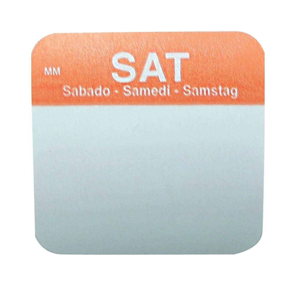 "Daymark - 1x1"" Removable Day of the Week Label (Sat)"
