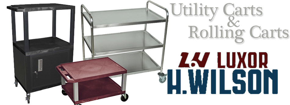 luxor h wilson rolling utility carts