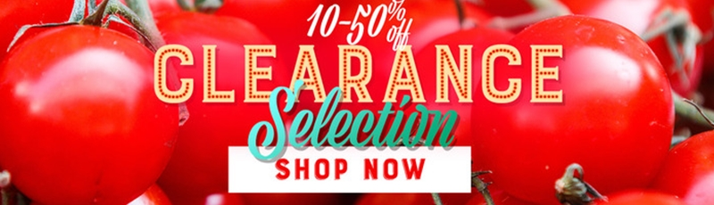 Clearance Selection 10% to 50% Off Select Items