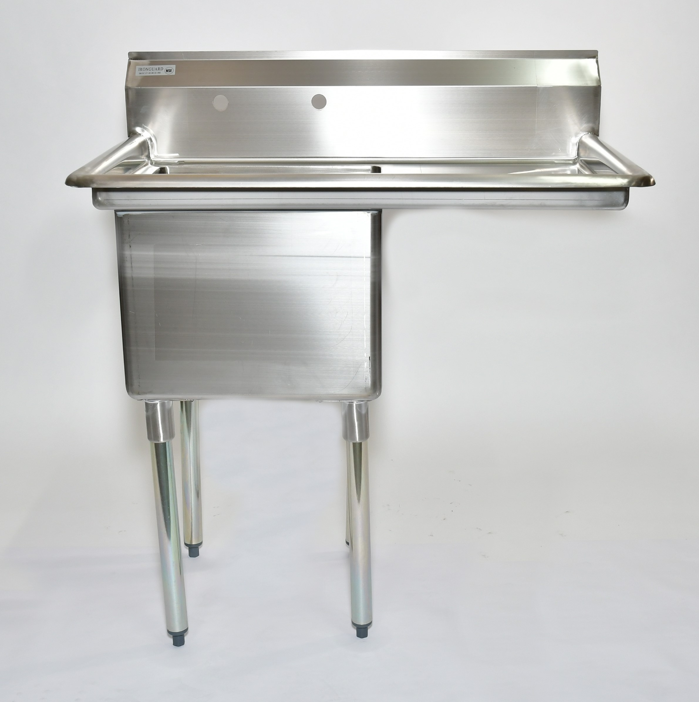 "Iron Guard-Sink 1 Comp 18 X 18 X 14 with 18"""" RDB 304 Top Galv Legs 