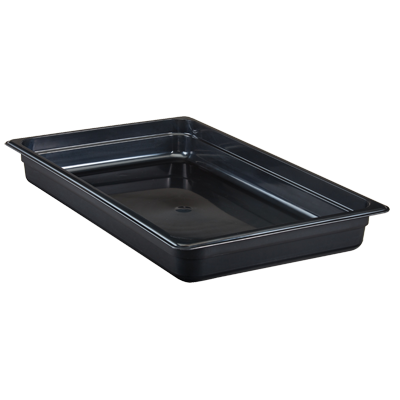 "Cambro - Full 1/1 Size x 2.5"""" Deep High-Heat Food Pan Black Hot 