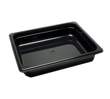 "Cambro - Half 1/2 Size x 2.5"""" Deep Food Pan Black Cold 
