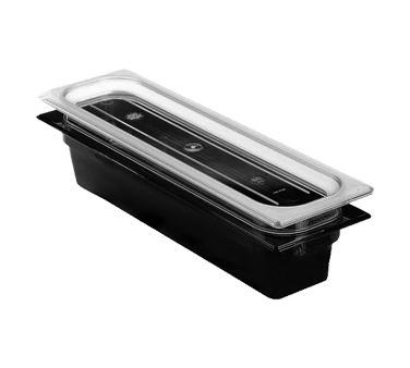 "Cambro - Half 1/2 Size Long x 2"""" Deep High-Heat Food Pan Black Hot 