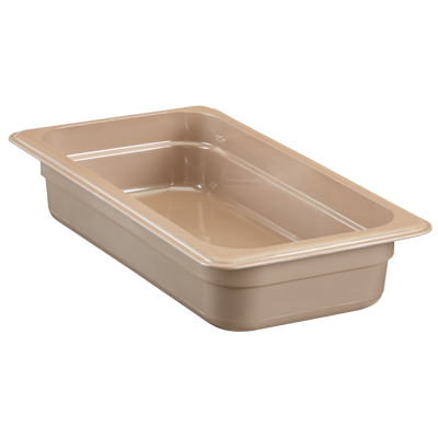 "Cambro - 1/3 Size x 2.5"""" Deep High Heat Food Pan (Blk) 